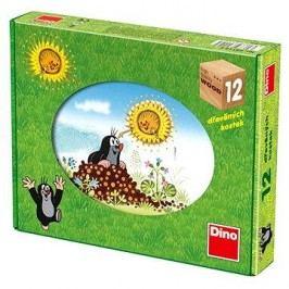 Dino Kostky kubus Krtečkův rok dřevo 12ks v krabičce 22x17x4cm