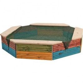 Woody Dřevěné pískoviště barevné