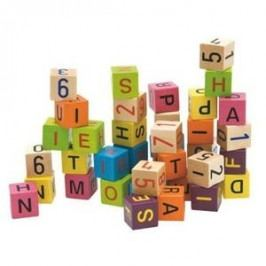 Woody Kostky s písmeny a čísly