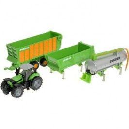 Siku Farmer - Traktor Deutz se sadou přívěsů Joskin