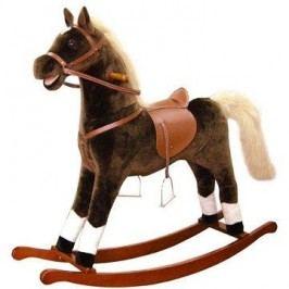Bino Velký plyšový houpací kůň - hnědý