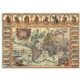 Historická mapa světa 2000 dílků