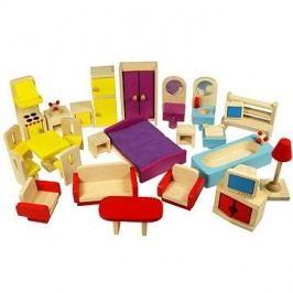 Dřevěný nábytek do domečku pro panenky