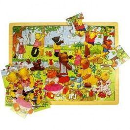 Dřevěné puzzle - Medvědí piknik