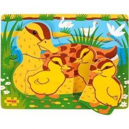 Vkládací dřevěné puzzle - Kachny