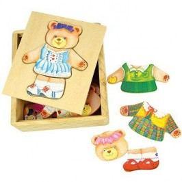 Dřevěné oblékací puzzle v krabičce - Paní Medvědice