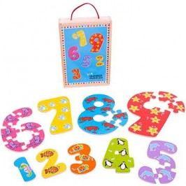 Dřevěné puzzle - Čísla 1 - 9