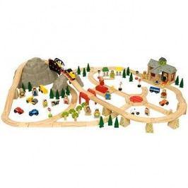 Bigjigs Dřevěné vláčkodráhy - Horská cesta 112 dílů