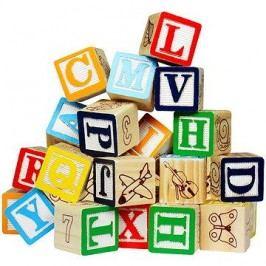 Hrací kostky - Písmena & čísla
