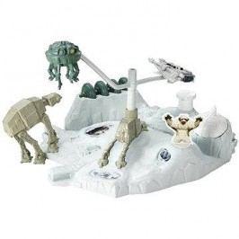 Hot Wheels - Star Wars hrací set s hvězdnou lodí Hoth