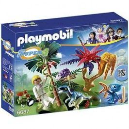 Playmobil 6687 Ztracený ostrov s Alienem a raptorem