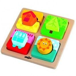 Woody Destička s puzzle- tvary