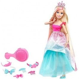 Barbie Vysoká princezna s blond dlouhými vlasy