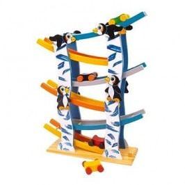 Dřevěná dráha tučňáci