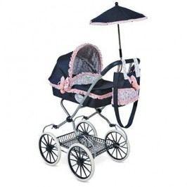DeCuevas - Kočárek pro panenky hluboký s deštníkem Clasic Romantic