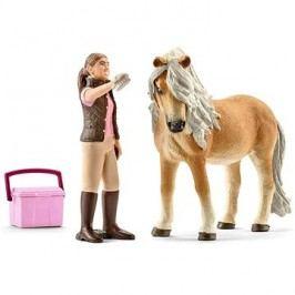 Schleich Klisna koně Islandského s ošetřovatelkou