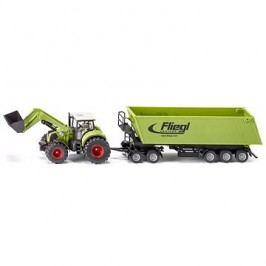 Siku Farmer - Traktor s předním nakladačem a přívěsem