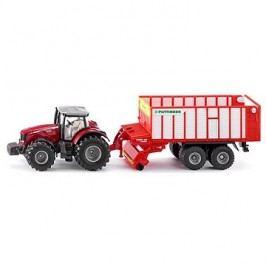 Siku Farmer - traktor Massey FErguson s Jumbo přívěsem