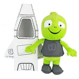 Plyšová hračka mimozemšťan Alza II s raketou