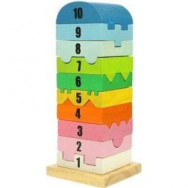 Bigjigs Dřevěná motorická věž s číslicemi