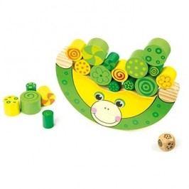 Small foot Dřevěná motorická hra Balancující žába
