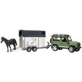 Bruder Land Rover s přívěsem pro přepravu koní včetně 1 koně