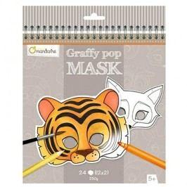 Avenue Mandarine Karnevalové masky k vymalování Zvířátka