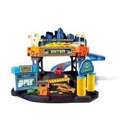 Bburago Street Fire Skyline garáž hrací set + 1ks auto v krabičce 1:43