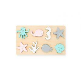 Jollein Dřevěné puzzle Sea animal