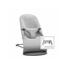 Baby Björn Lehátko Bliss Light Grey 3D Jersey s hračkou textilní Soft friends