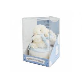 DouDou et Compagnie Lapin Bonbon Zajíček modrý Hudební 17cm