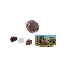 HALFTOYS PAKŮŇ - magnetická skládací hračka s 3D modelem savany