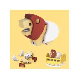 HALFTOYS BABY LEV - magnetická skládací hračka