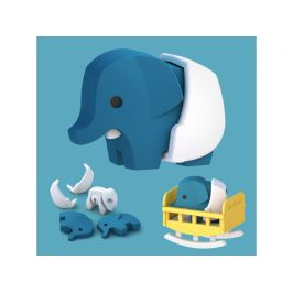 HALFTOYS BABY SLON - magnetická skládací hračka