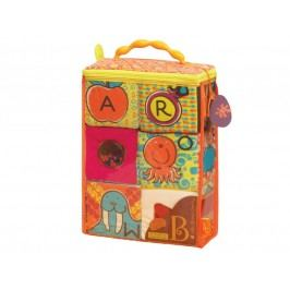 B-Toys Textilní kostky ABC Block Party