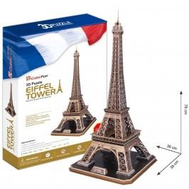 3D puzzle CubicFun Eiffelova věž velká, Paříž 82 dílků