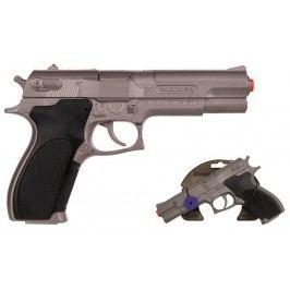 Alltoys policejní pistole stříbrná matná kovová 8 ran