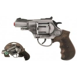 Alltoys policejní revolver gold colection stříbrný kovový 12 ran
