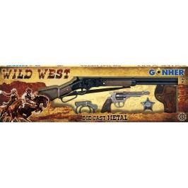 Alltoys kovbojská sada velká puška revolver pouta šerifská hvěz