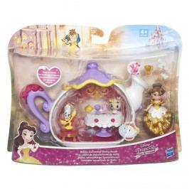 Hasbro Disney Princess mini hrací set s panenkou Bellin jídelní set