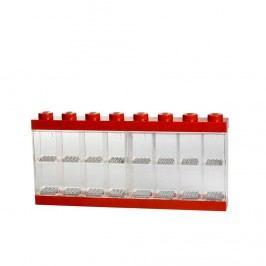LEGO vitrínka na 16 minifigurek červená