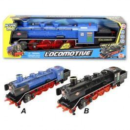 Lokomotiva se světlem a zvukem a zpětným motorem