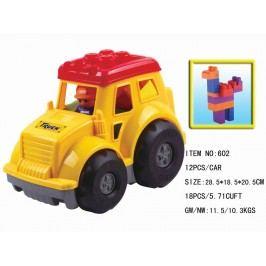 Alltoys Traktor plastový s kostkami 12 ks