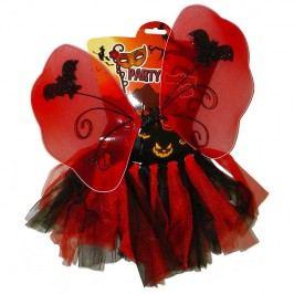 Kostým víla Halloween červená