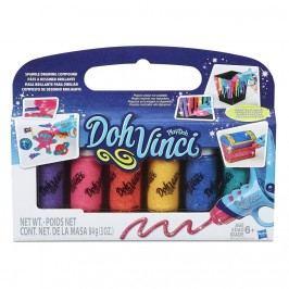 Hasbro Play Doh Dohvinci balení 6 náhradních tub třpytivé barvy