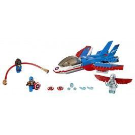 LEGO® Super Heroes LEGO Super Heroes Kapitán America a honička ve stíhačce 76076
