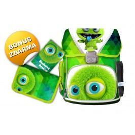 Bonaparte SET školní batoh Monster + jednopartový penál a úkolníček zd