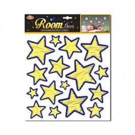 Hvězdičky nalepovací - svítící ve tmě
