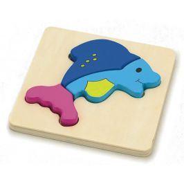 Alltoys Puzzle dřevěné - delfín 4 dílky