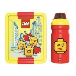 Lego Iconic Classic svačinový set láhev a box červená/modrá
